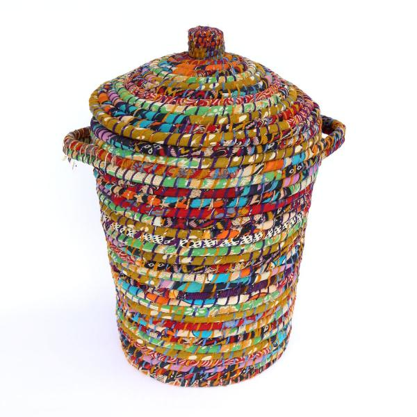 Bright Day Recycled Sari Hamper