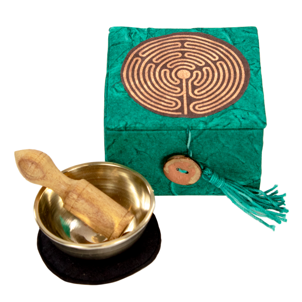 Labyrinth Mini Meditation Singing Bowl