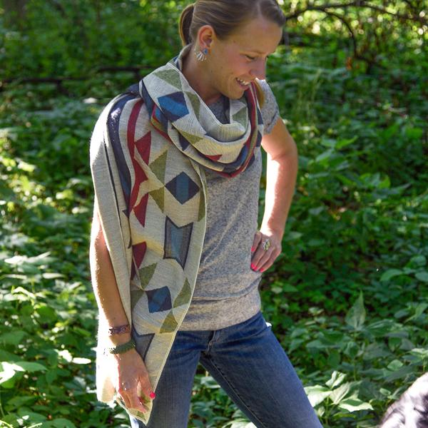 Tribal Blanket Shawl