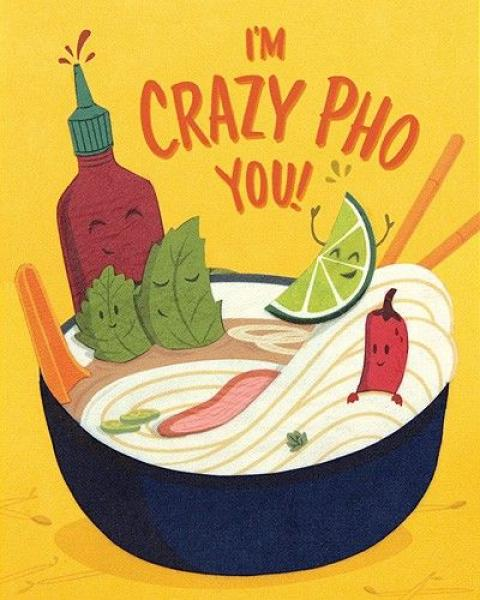 Crazy Pho You Handmade Paper Card