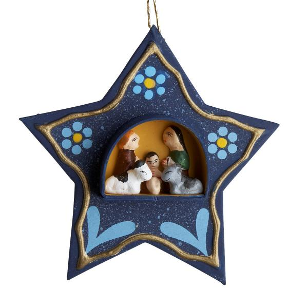 Tiny Retablo Star Ornament