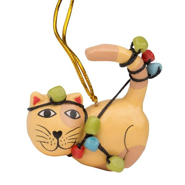 Tangled Up Cat Ornament