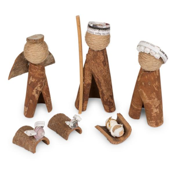 Cinnamon Bark and Paper Nativity