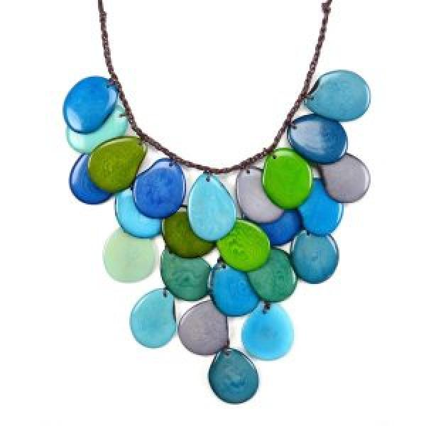Tagua Waterfall Statement Necklace