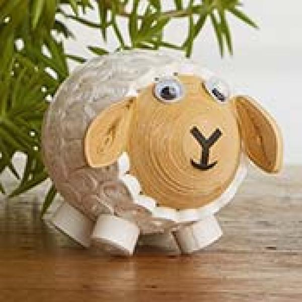 Quilled White Sheep