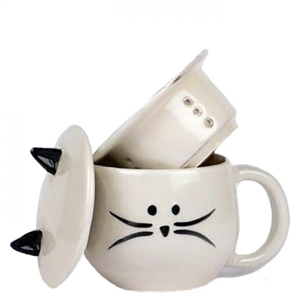 Cute Cat Tea Infuser Mug
