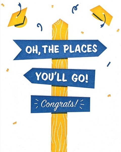 Oh, the Places You'll Go! Letterpress Card