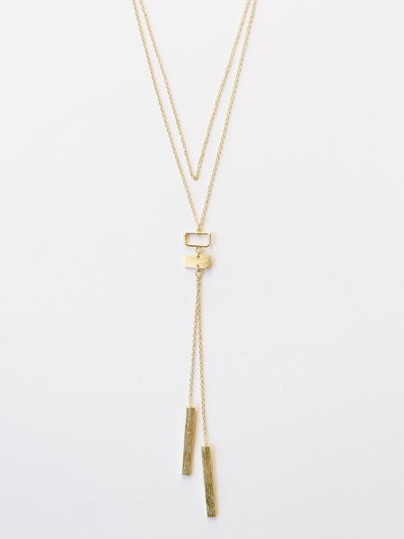 Gold Geometric Bolo Necklace