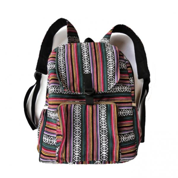 Cotton Backpack in Gyari Fabric