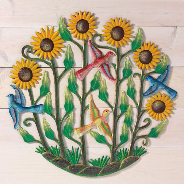 Sunflower Garden Drum Art