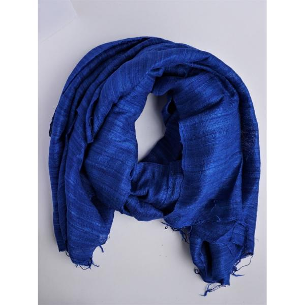Tien Royal Blue Silk Scarf