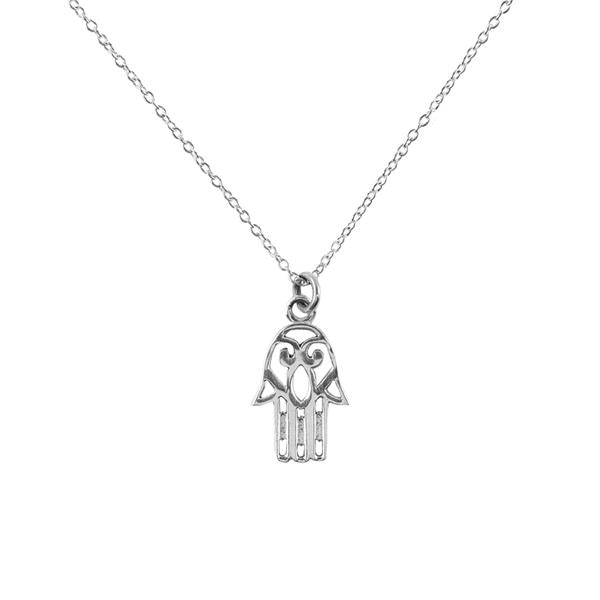 Hamsa Sterling Silver Charm Necklace - Harmony