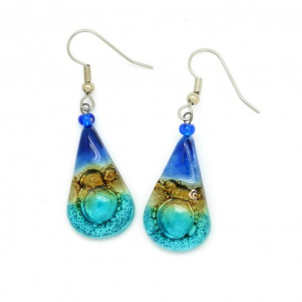 Teardrop Glass Earrings