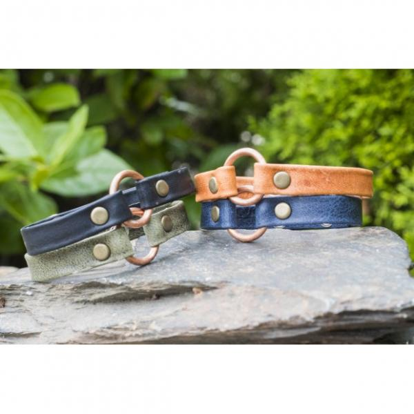 Copper Bridle Leather Bracelet