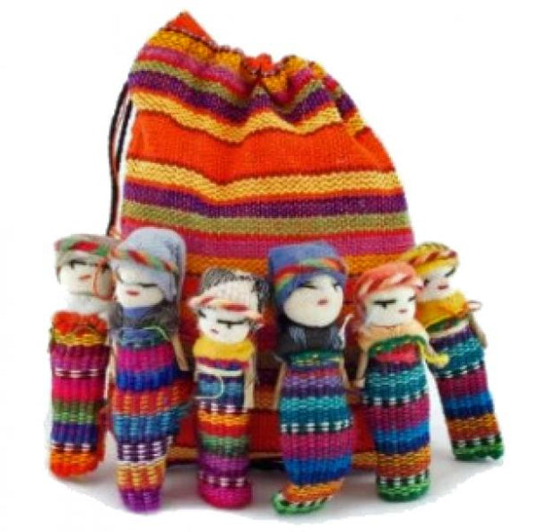 "2"" Worry Doll Family"