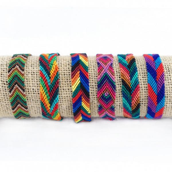 Wide Silk Friendship Bracelet