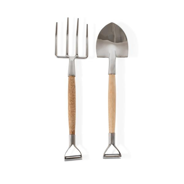 Shovel & Pitchfork Stainless Steel Salad Servers