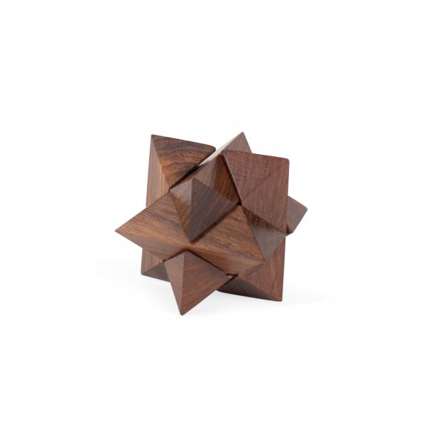 Mini Shesham Wood Star Puzzle
