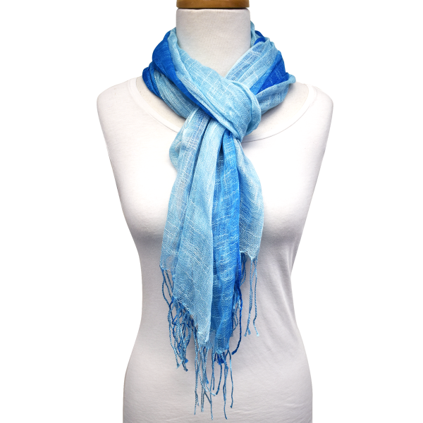 Lightweight Ombre Scarf with Fringe