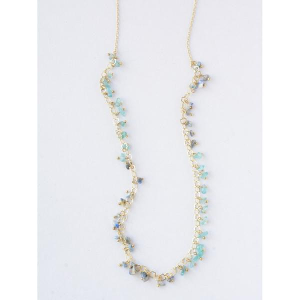 Evening Sky Brass and Semi-Precious Stone Necklace