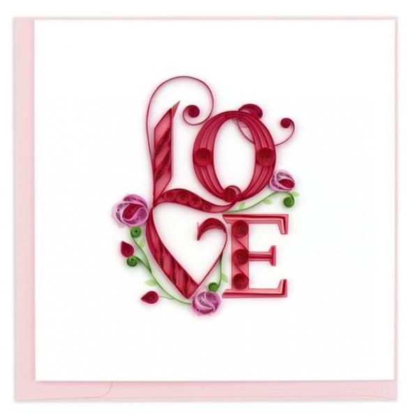 Love Lettering Quilling Card