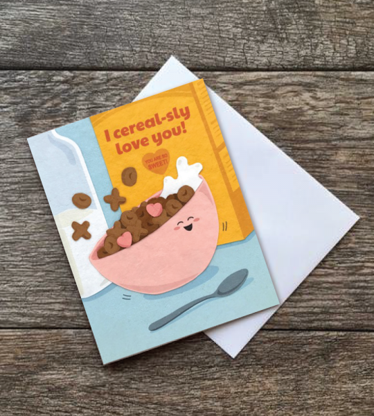Cereal-sly Love You Card