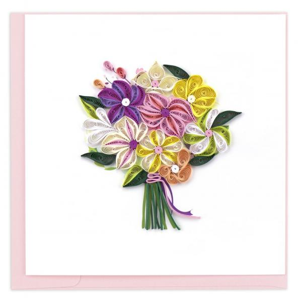 Flower Bouquet Quilling Card