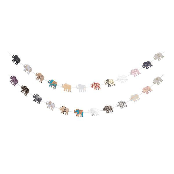 Metallic Cotton Elephant Garland