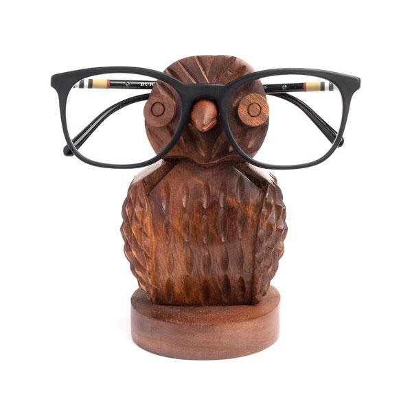 Owl Rosewood Eyeglass Holder