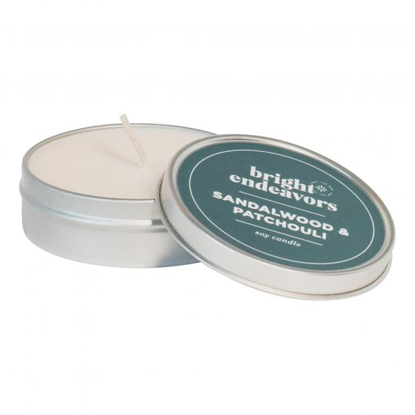 Sandalwood Patchouli Candle 4 Ounce Tin