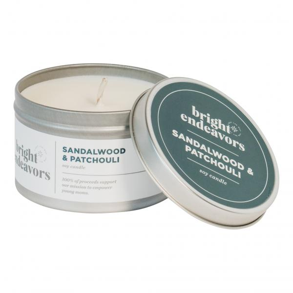 Sandalwood Patchouli Candle 8 Ounce Tin