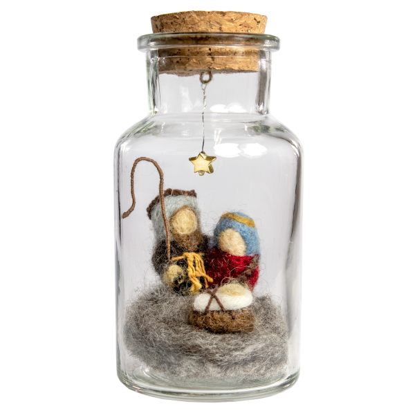 Nativity Story Jar