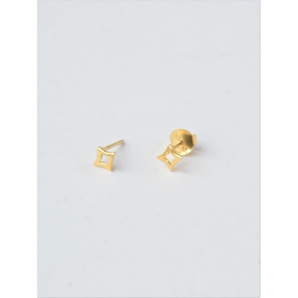 14K Gold Plated Star Studs