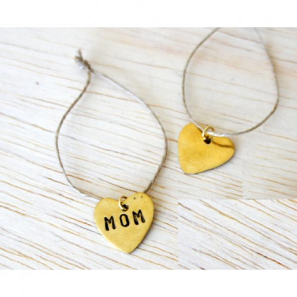 Recycled Brass Heart Charm