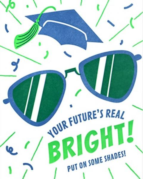 Bright Shades Graduation Card