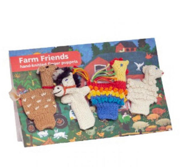 Organic Finger Puppet Farm Set