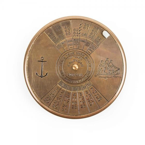 100 Year Brass Calendar