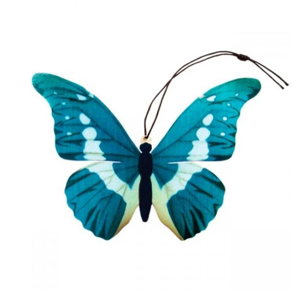Blue Morpho Butterfly Ornament Bookmark