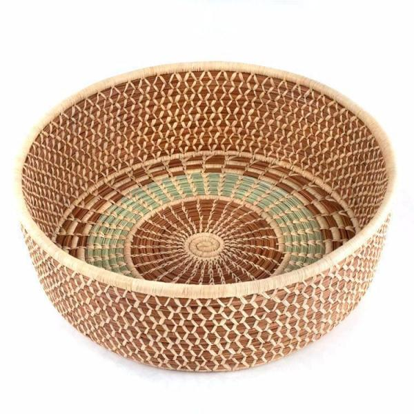 Pine Needle and Wild Grass Harvest Basket