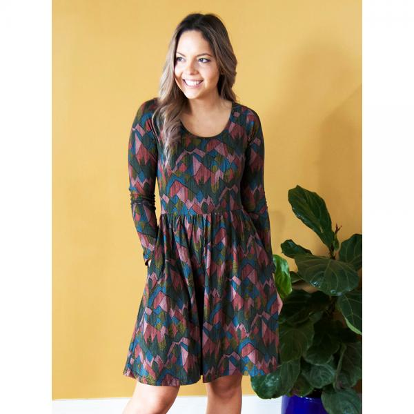 Rosalie Dress in Moss