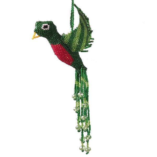 Beaded Flying Bird Window Ornament