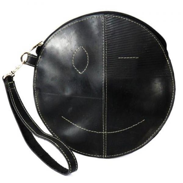 Recycled Tire Round Wristlet