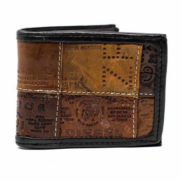 Leather Jean Label Bifold Wallet
