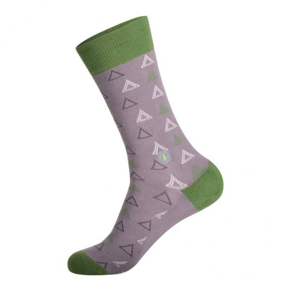 Socks That Plant Trees: Green & Grey Triangles