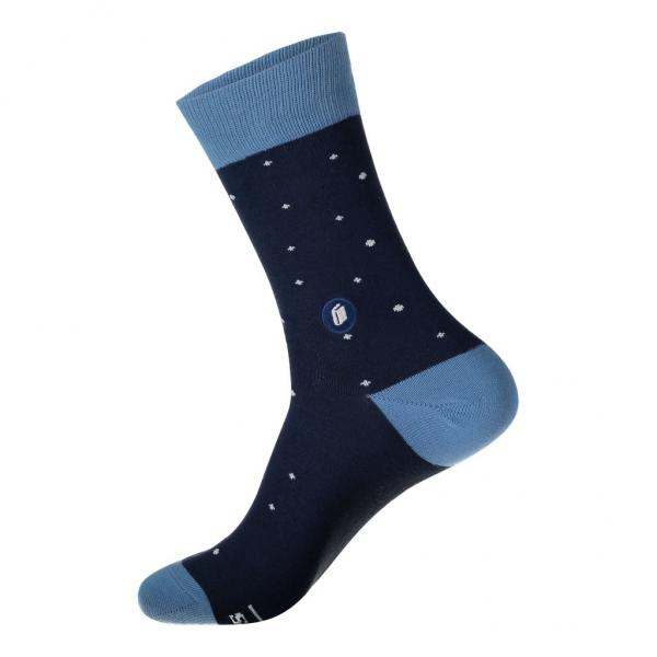 Socks That Give Books: Blue with Glasses Large
