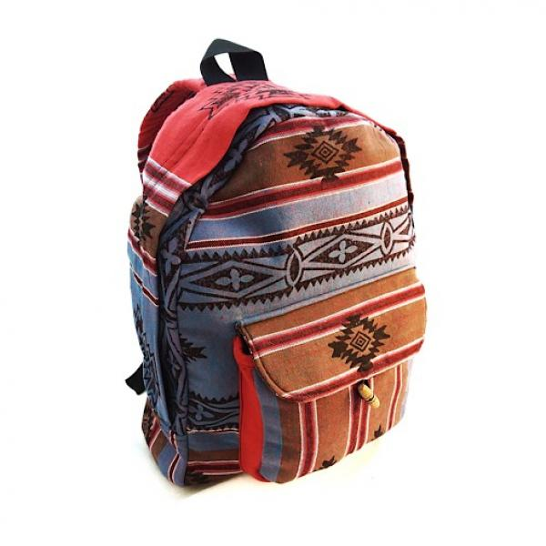 Small Cotton Striped Backpack