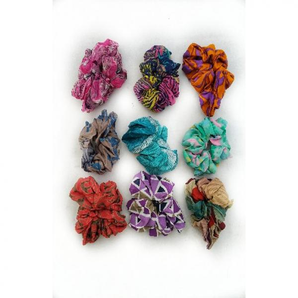 Recycled Silk Sari Scrunchie