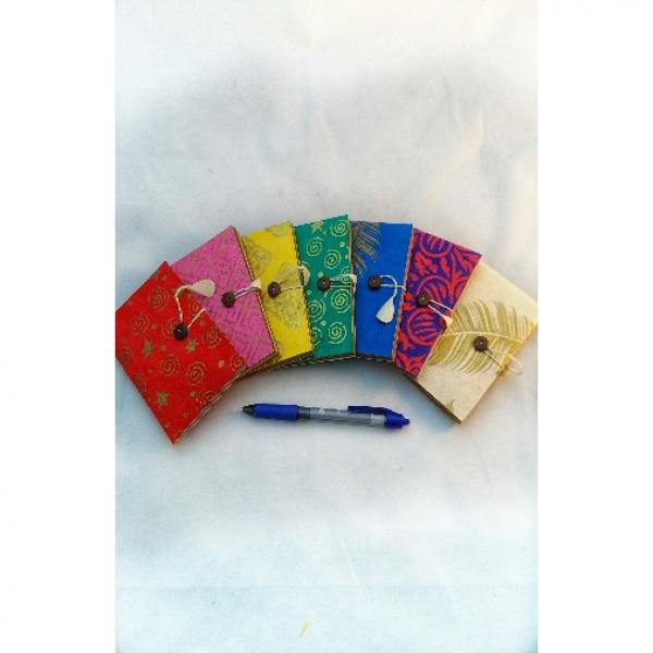 Small Lokta Paper Journal with Colorful Pages