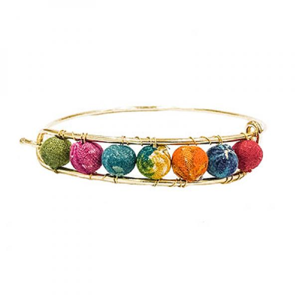 Kantha Gold Bangle Bracelet