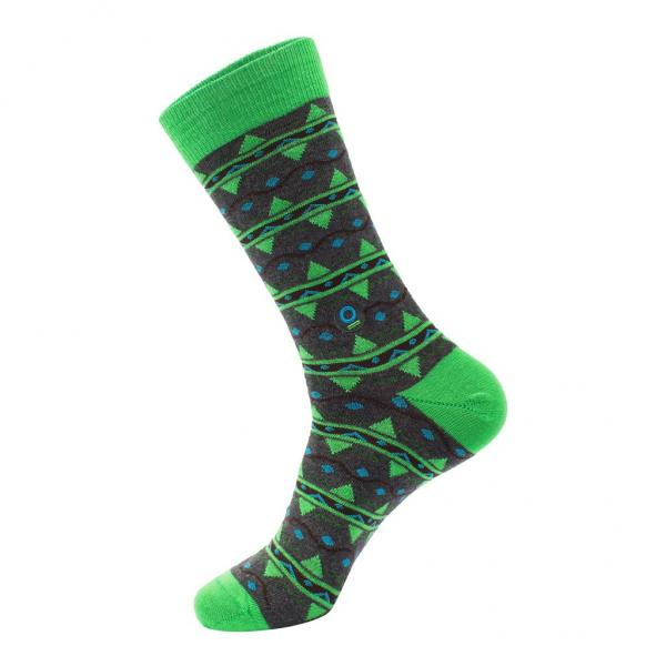 Socks That Protect Rainforests: Green & Blue Leaves Small